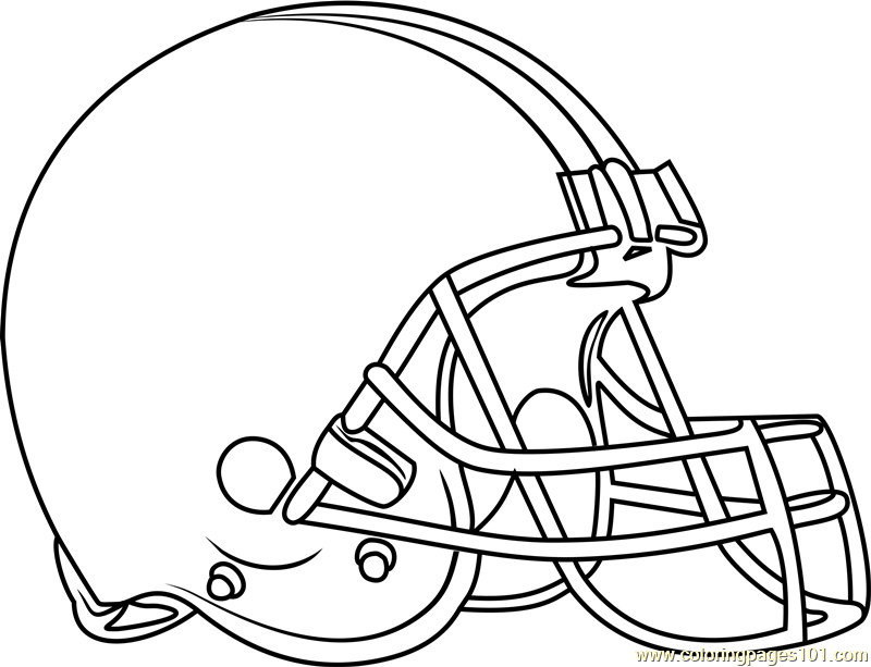 Cleveland Browns Logo Coloring Page Free NFL Coloring