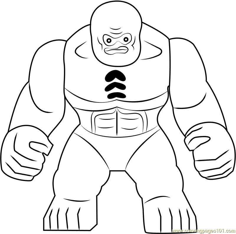 Lego Abomination Coloring Page Free Lego Coloring Pages