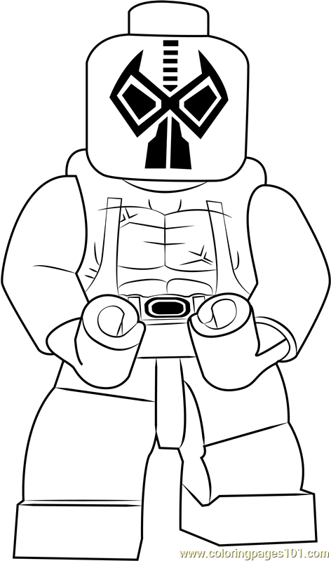 Lego Bane Coloring Page Free Lego Coloring Pages