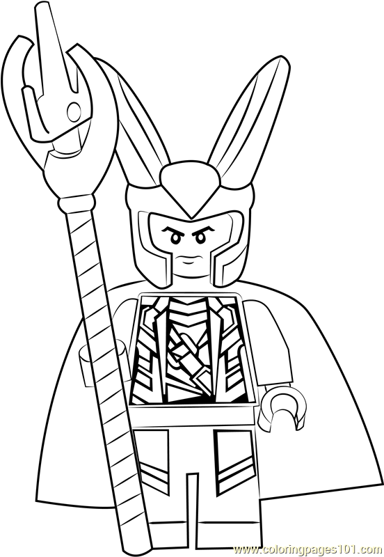Lego Loki Coloring Page Free Lego Coloring Pages