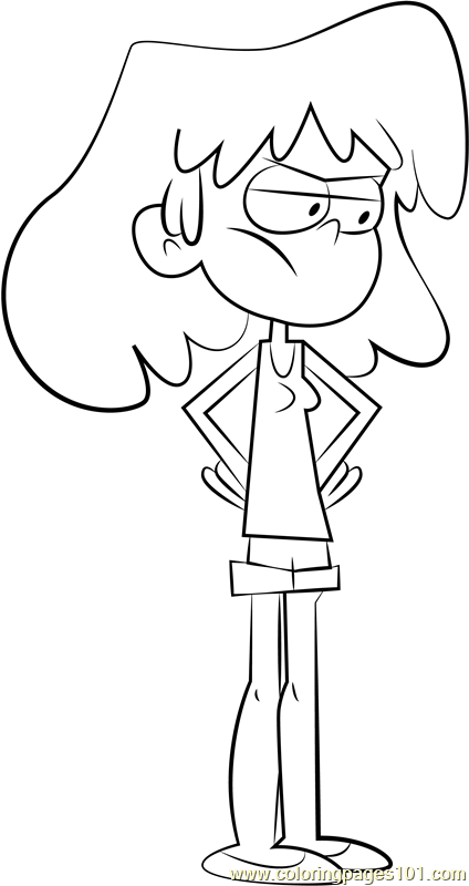 Lori Loud Coloring Page Free The Loud House Coloring