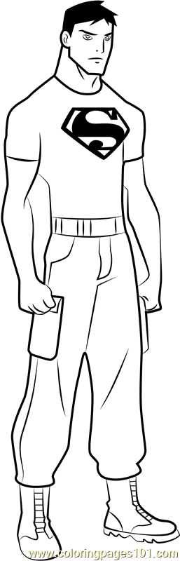 Superboy Coloring Page Free Young Justice Coloring Pages