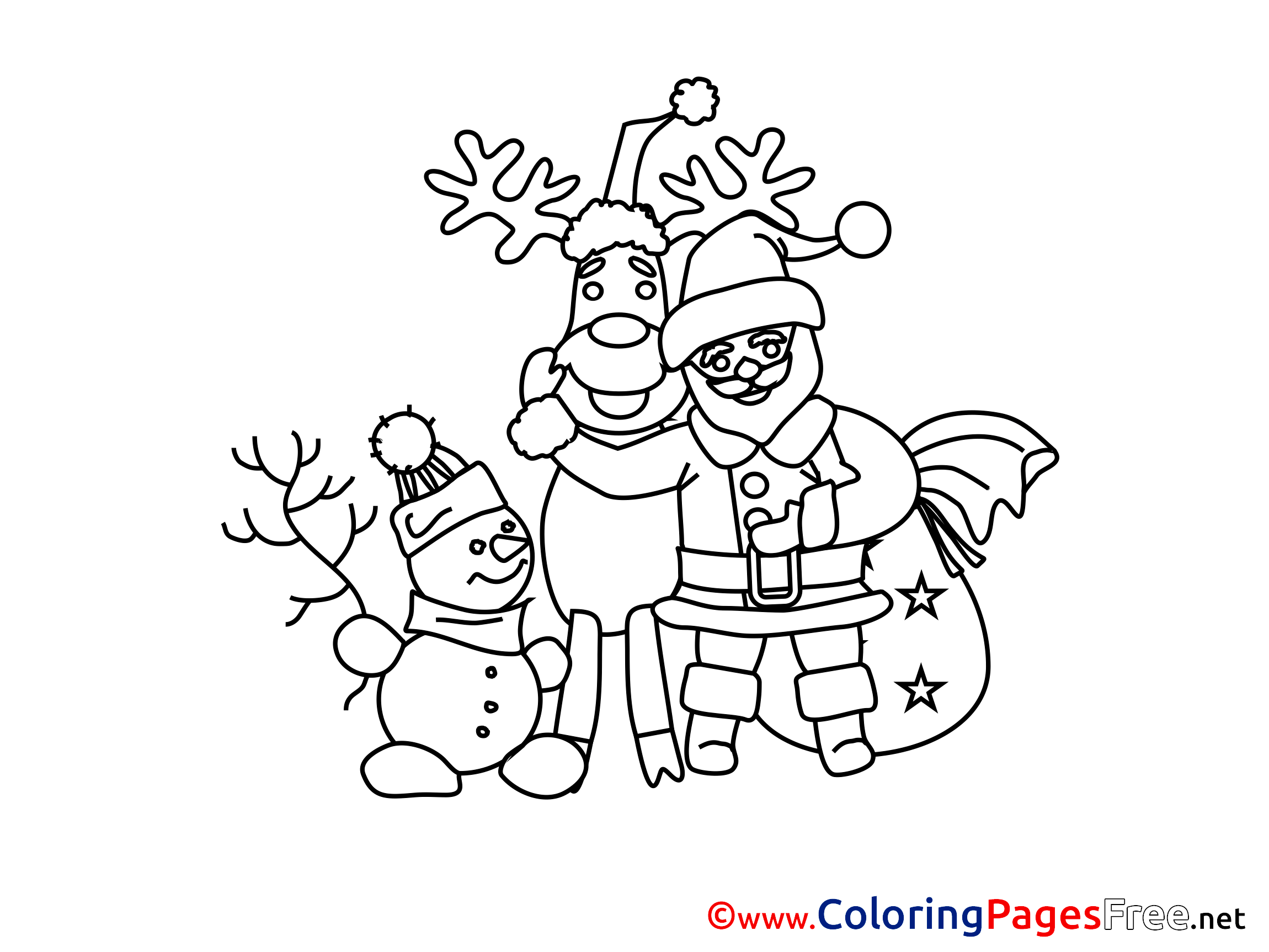 Santa Claus Printable Advent Coloring Sheets