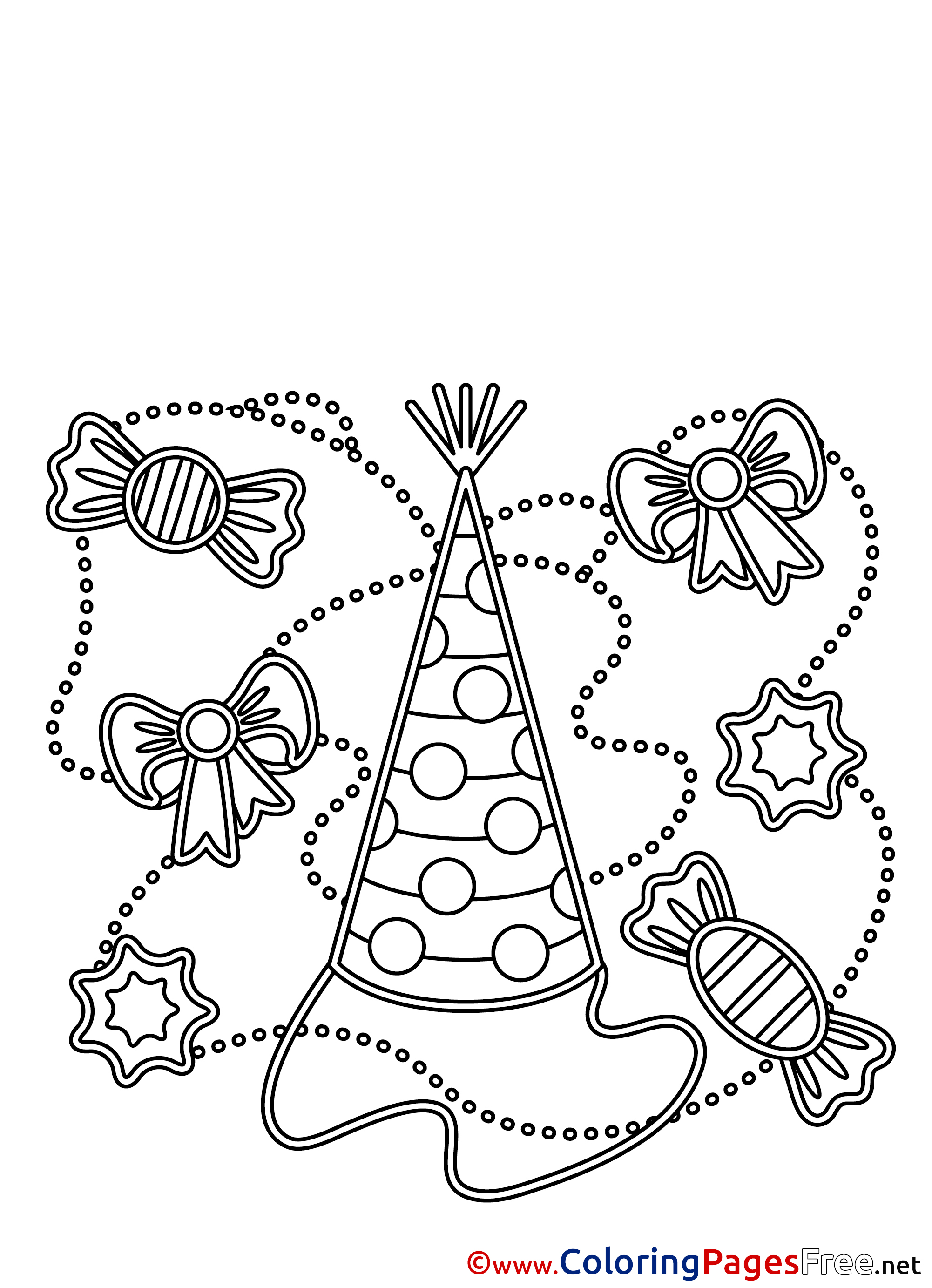 Elf Hats Coloring Pages Printable