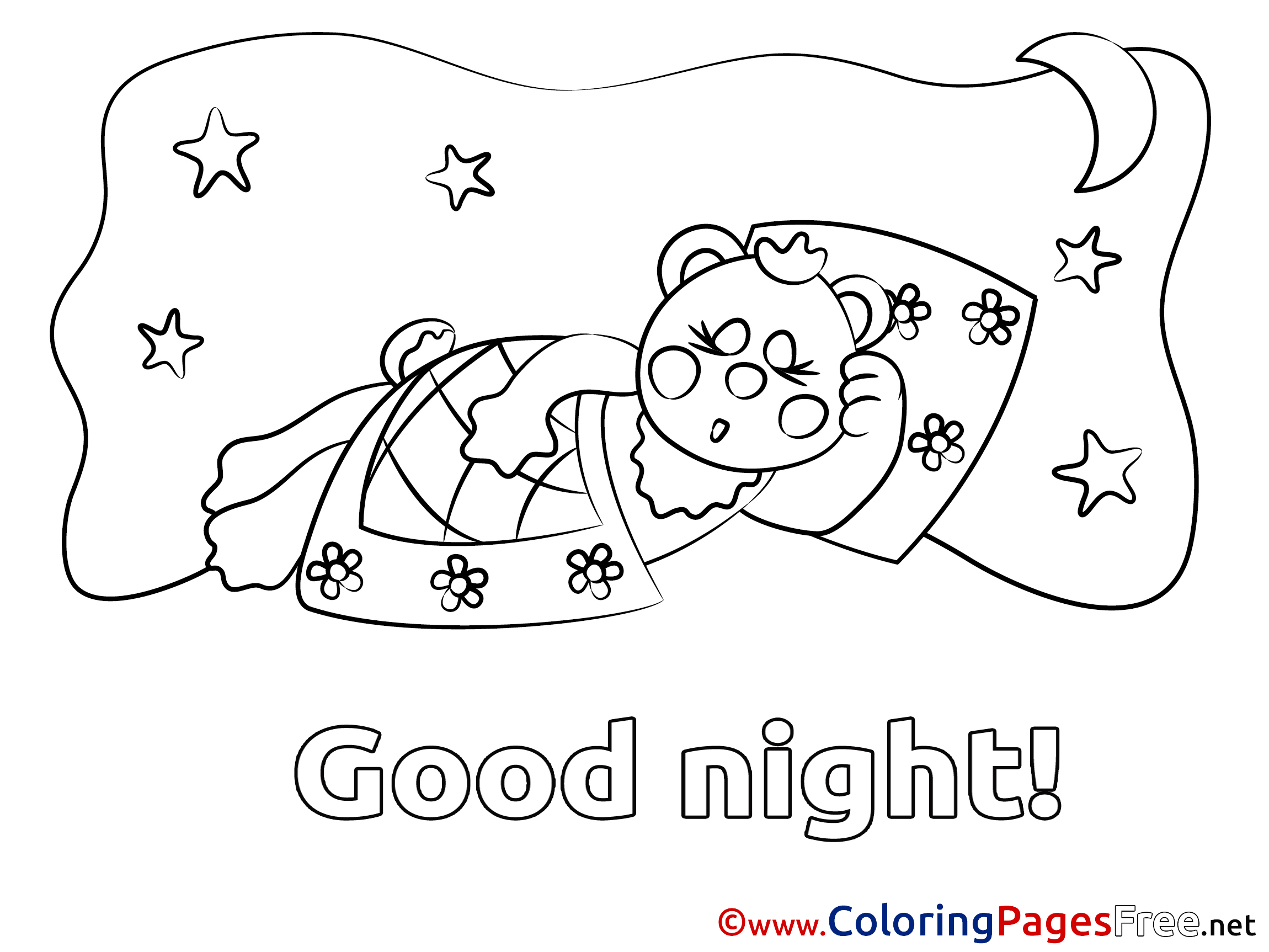 Good Afternoon Coloring Page