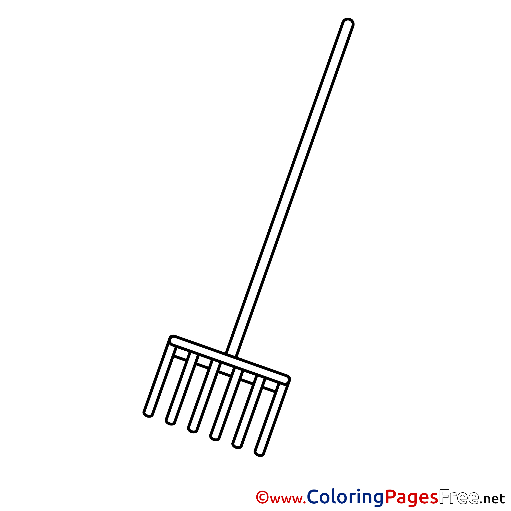 Rake Page Printable Coloring Pages