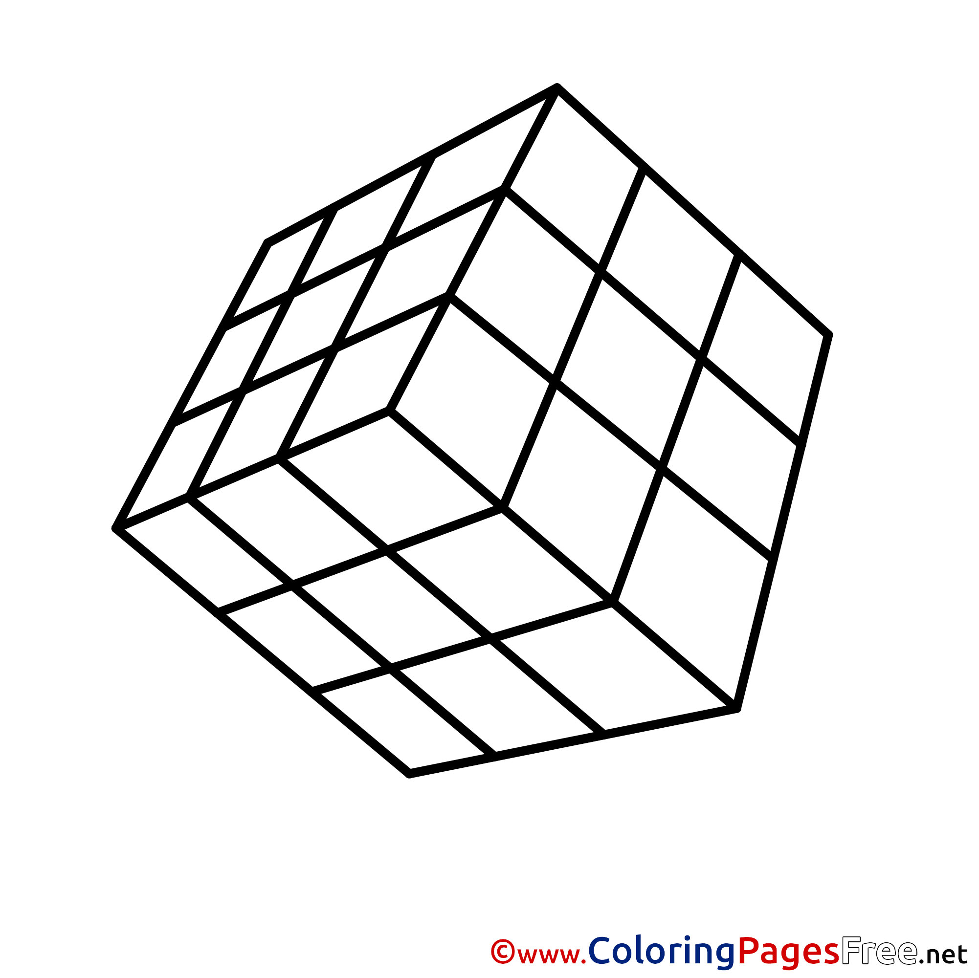 Cube Coloring Pages