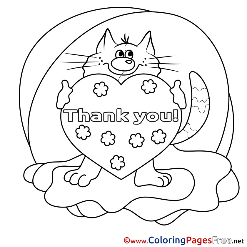 please and thank you pages coloring pages