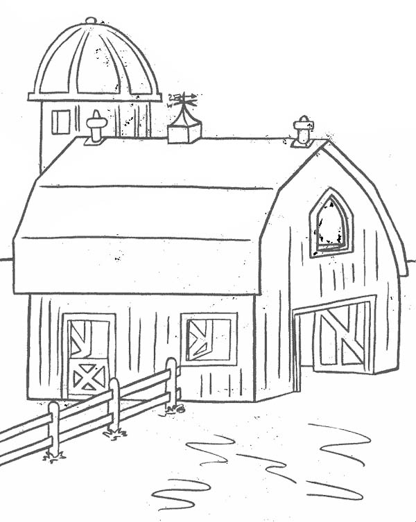 barn for keeping farm products coloring page  coloring sky