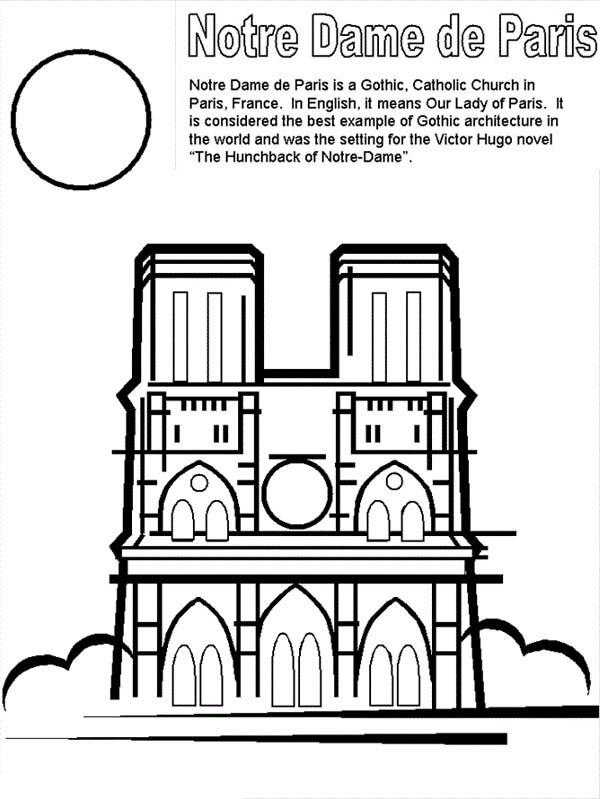 Notre Dame De Paris Of French Coloring Page Coloring Sky