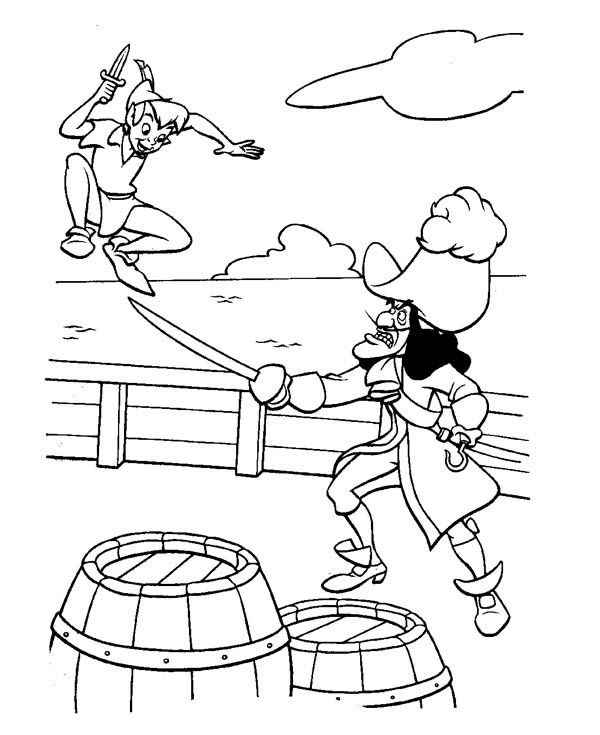 captain hook coloring pages # 13
