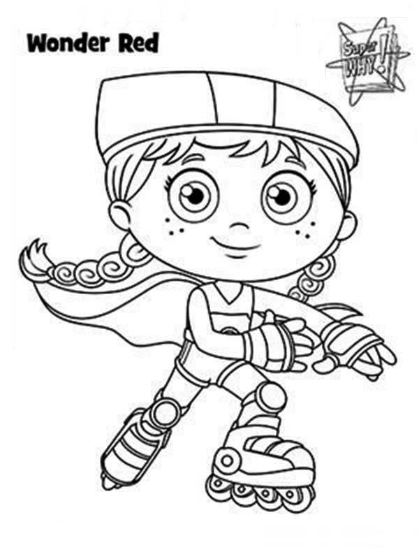 red riding hood super hero form wonder red in superwhy