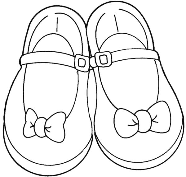 Shoes For Teenage Girl Coloring Page Coloring Sky