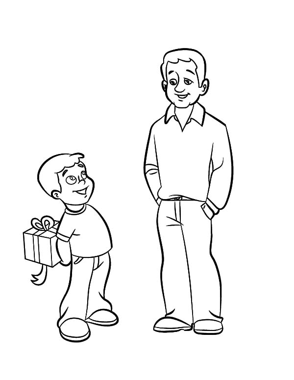 Hide surprise gift daddy i love dad coloring pages, i love my daddy coloring pages