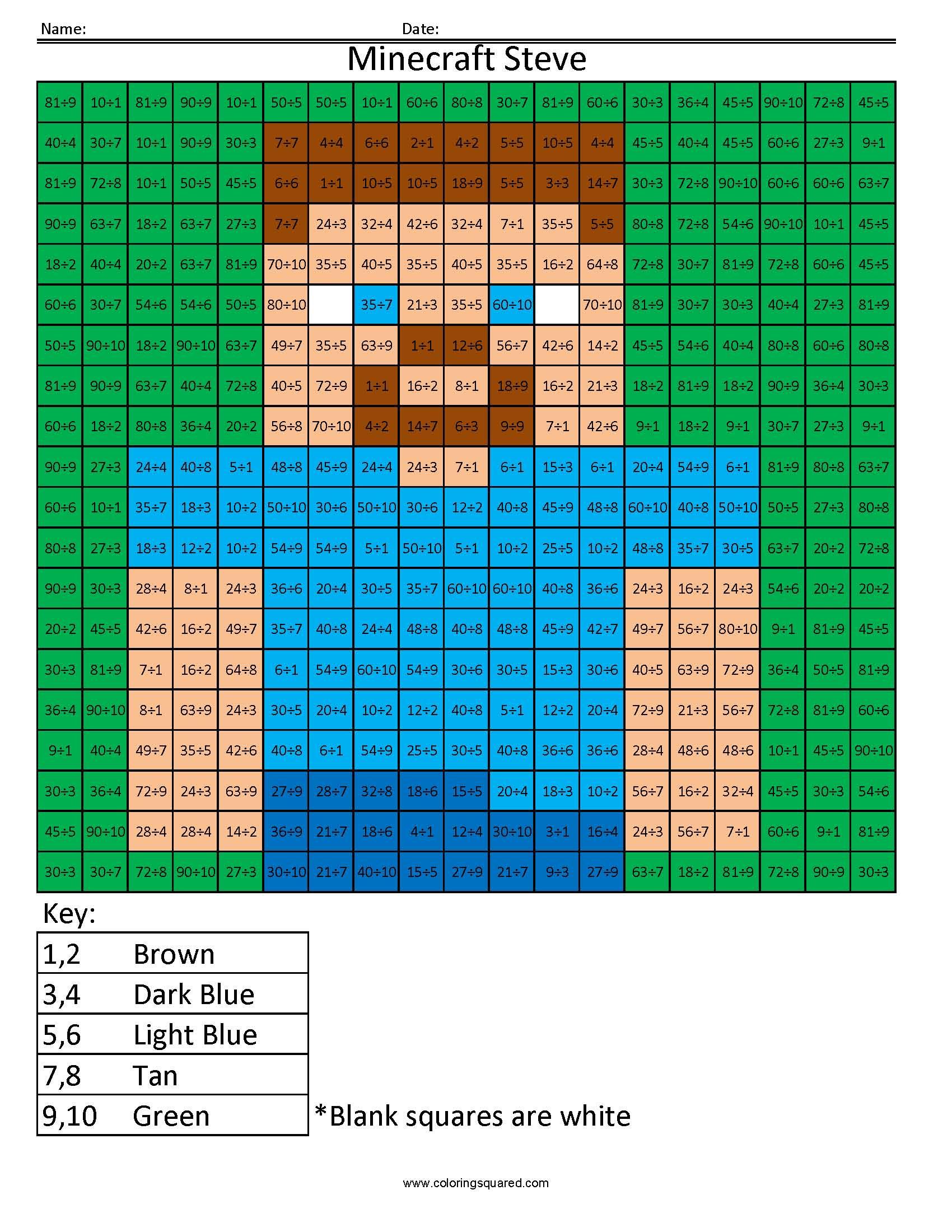 66 Zombie Math Worksheet