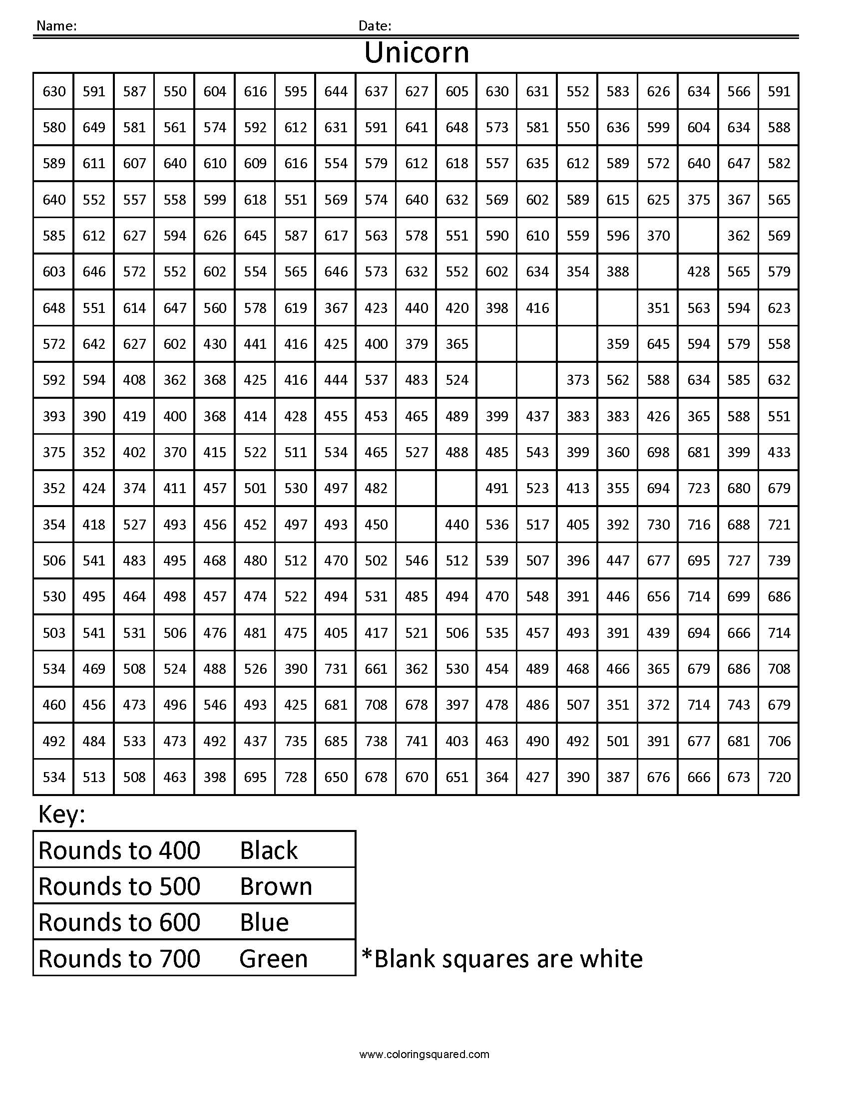 Printable Math Worksheet Multiplication Color By Number
