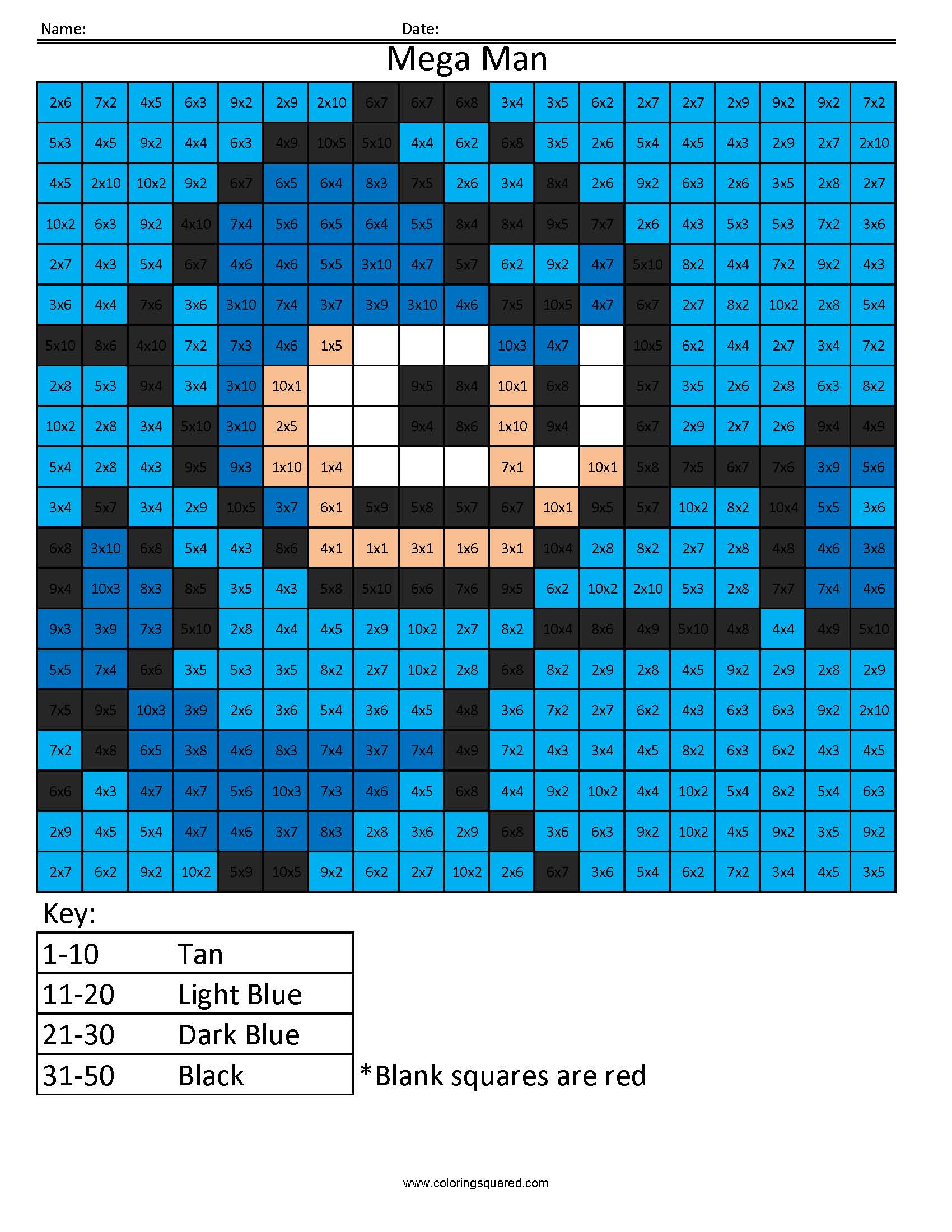 Mega Man Basic Multiplication