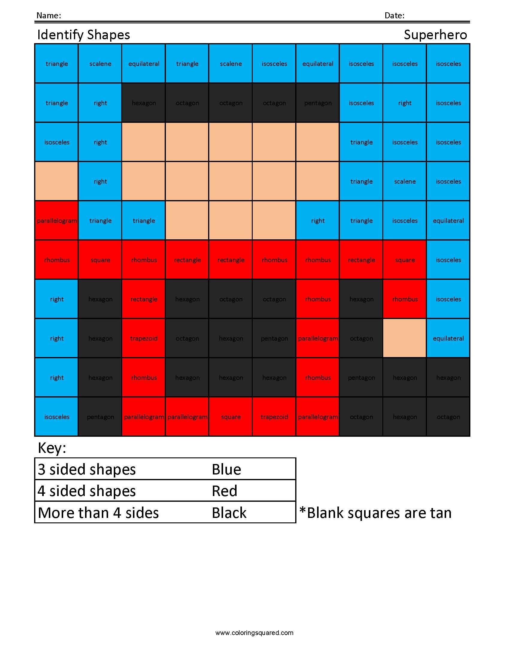 5gm Identify Shapes Superhero Geometry And Measurement