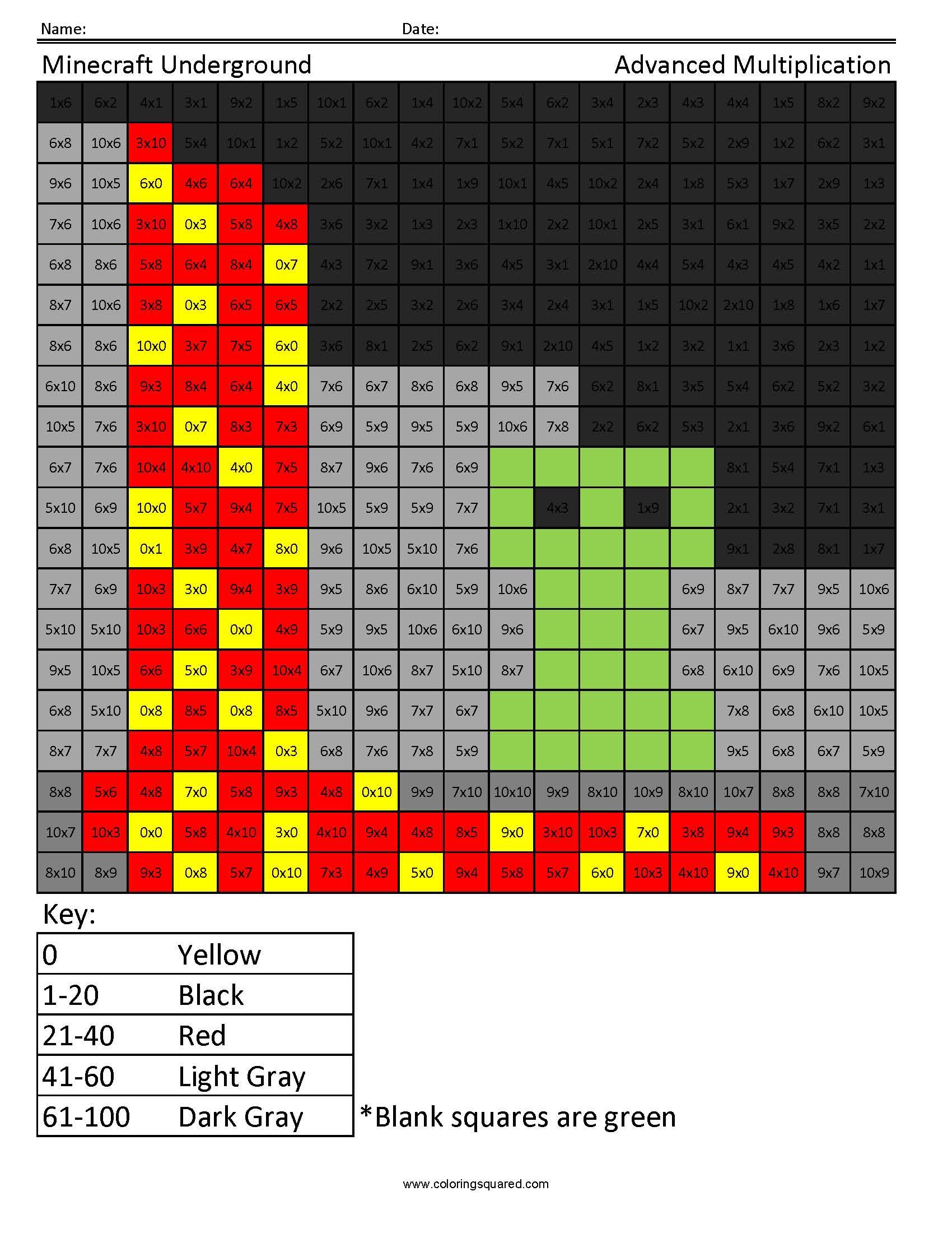 Minecraft Underground Advanced Multiplication