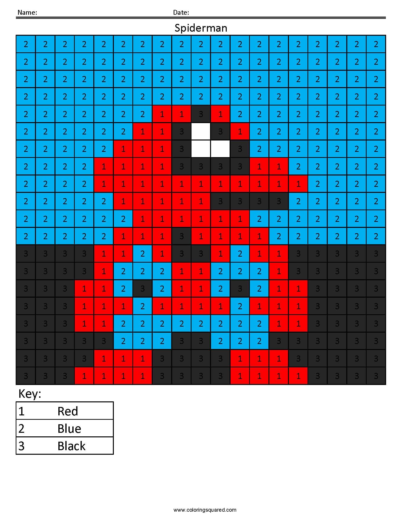 Spiderman Counting Superhero Activity