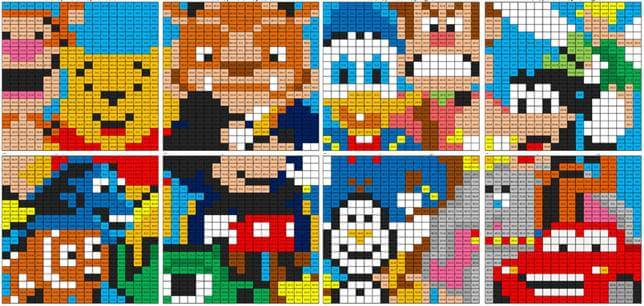 Disney character mural division coloring squared for Character mural