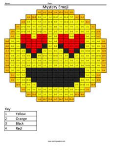Love Emoji Division Coloring