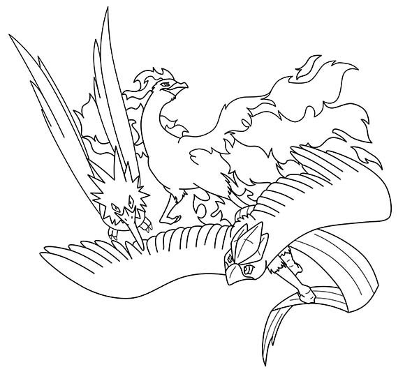 Articuno coloring pages