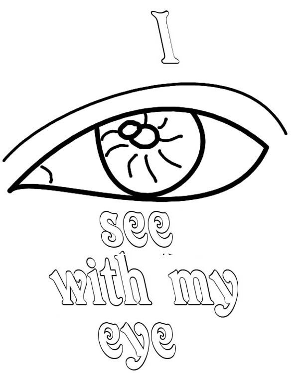 i see  my eyes coloring page i see  my eyes