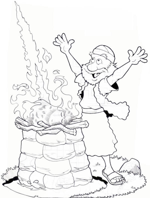 elijah on mount carmel  free colouring pages