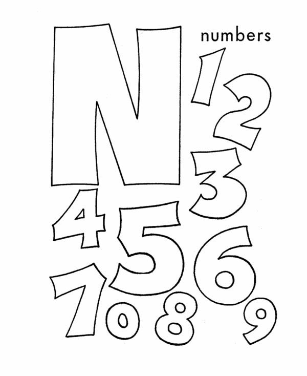 alphabet letter n for nut worksheet coloring page