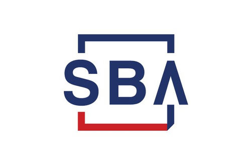 """Red and blue lettesr read """"SBA"""" on white background."""