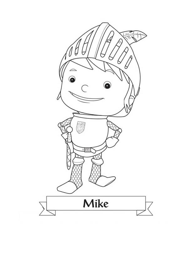 Picture Of Mike The Knight Coloring Page Picture Of Mike