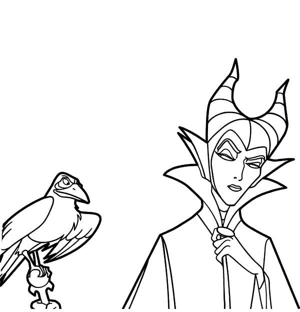 walt disney maleficent coloring pages  color luna
