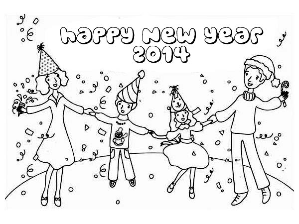 new year celebration drawing