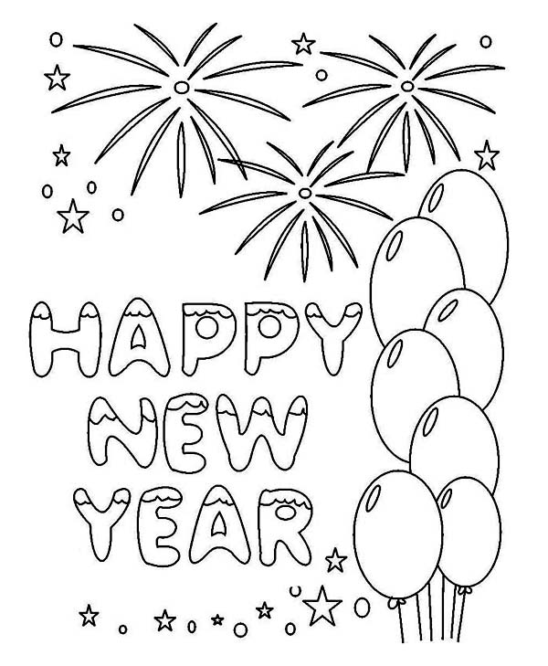 drawing new year greetings