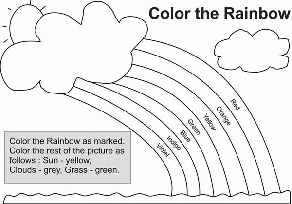 God Keeps His Promises Rainbow Coloring Page Sketch