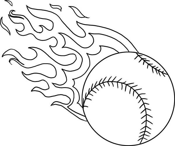fire baseball coloring page  download & print online