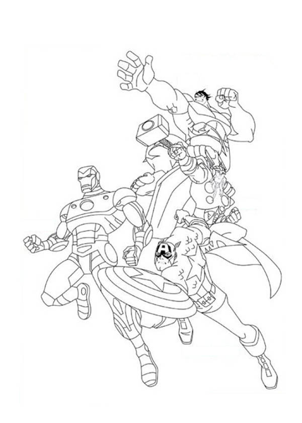 Awesome The Avengers Poster Coloring Page Download