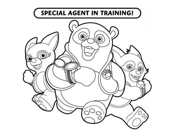 Special Agent Oso Coloring Pages Free