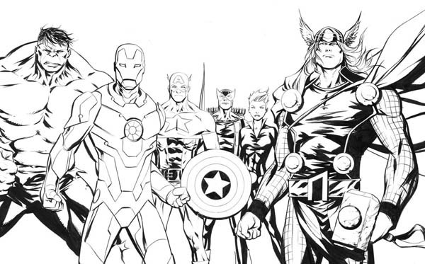 The Amazing Avengers Picture Coloring Page Download