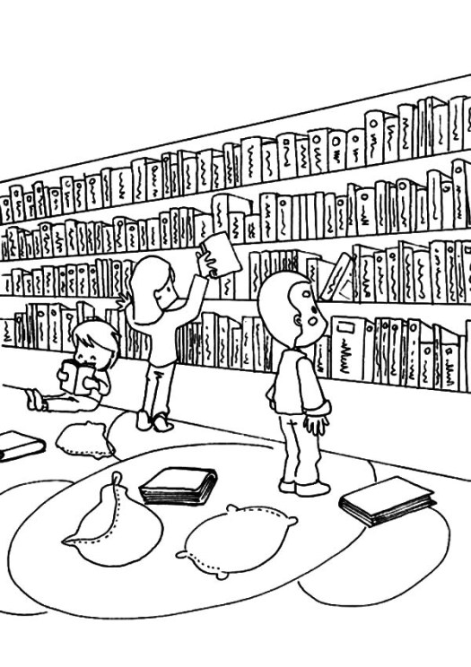 People in the community who help us free colouring pages for Librarian coloring page