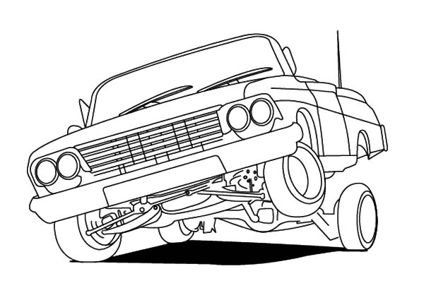 Japanese Cars Coloring Page
