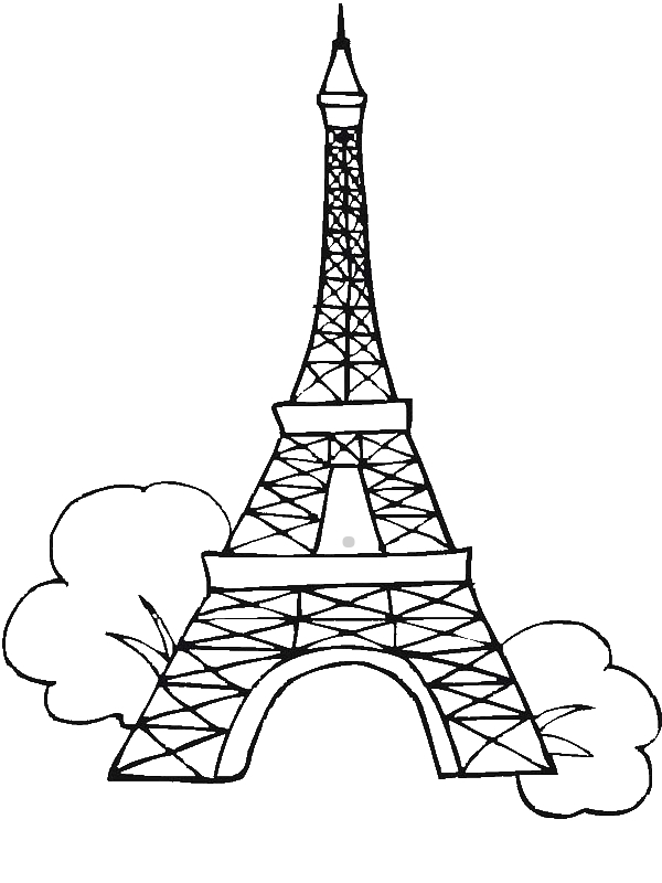 Seven Wonders Of The World Eiffel Tower Coloring Page