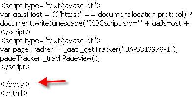 ใส่ code google analytics