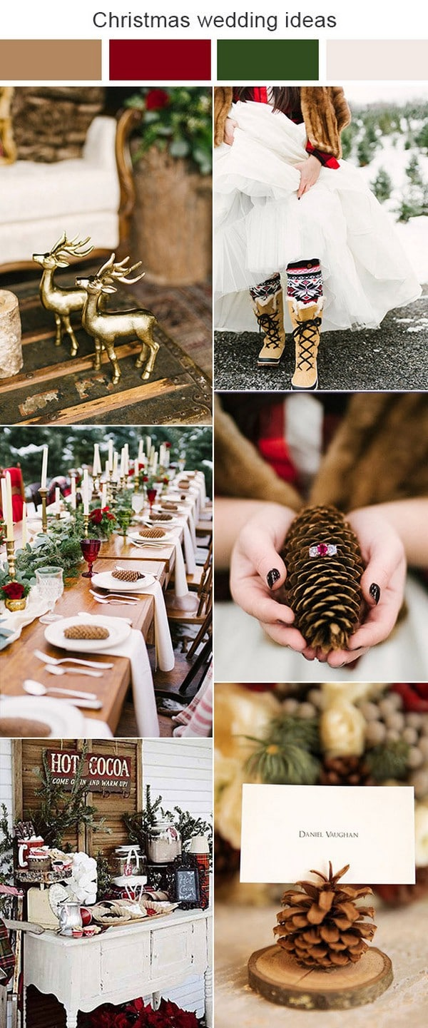 10 Green And Red Christmas Wedding Ideas For Winter 2020