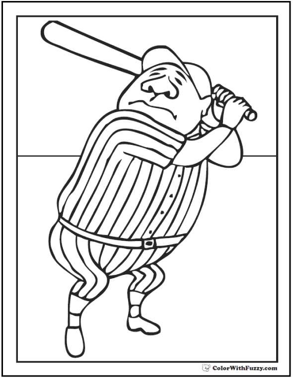 Baseball Coloring Pages Customize And Print Pdfs