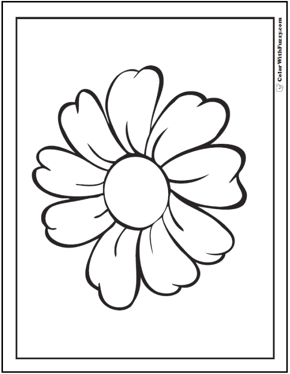 Daisy Coloring Pages 15 Customizable Pdfs