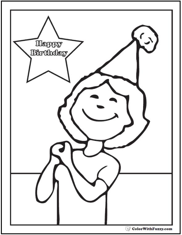 Happy Birthday Grandpa Coloring Card