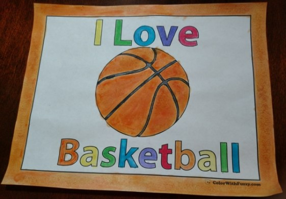 Basketball Coloring Pages  Customize And Print PDFs I Love Basketball Coloring Pages