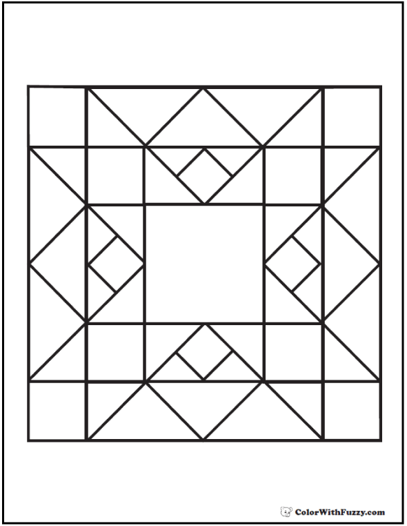 93+ [ Quilt Coloring Pages For Preschool ] - 65 Best QUILT BLOCKS ...